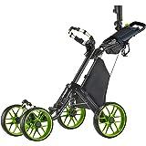 CaddyTek CaddyCruiser ONE Pro One-Click Folding 4-Wheel Golf Push Cart - 1 Year Australian Warranty