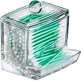 Qtip Cotton Swab Dispenser Holder - Acrylic Apothecary Vanity countertop Organizer Box Jars for qtips Bobby pins toothpicks C