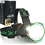 Lighthouse Beacon 1000 Super Bright LED Headlamp - The Best and Brightest Spotlight Headlight - zoomable Water Resistant - Ru