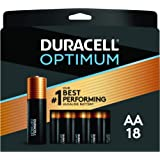 Duracell Optimum AA Batteries | 18 Count Pack | Lasting Power Double A Battery | Alkaline AA Battery Ideal for Household and