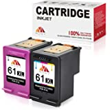 Mony Remanufactured Ink Cartridges HP 61 61XL (Black & Tri-Color, 2 Pack) Replacement for HP Envy 4500 5530 4502 Officejet 46