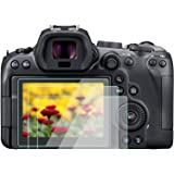 R6 Screen Protector for Canon EOS R6 Full Frame Mirrorless Camera, WH1916 9H Tempered Glass Anti-Bubble Anti-scratch Anti-fin