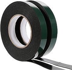 Faburo PE超強力スポンジ両面テープ 多用途 屋内屋外用 外壁面用 強力接着用20mm x10m 2個