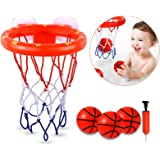 DEWEL Bath Toys for Toddlers, Premium Bath Basketball Hoop for Kids, Upgrade Suction Cup Basketball Hoop for Bath, Fun and So