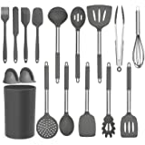 BRITOR Kitchen Silicone Utensil Set,16 Pcs Full Silicone Handle Non-Stick Heat Resistant Cooking,Cookware with Stainless Stee