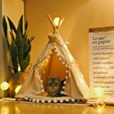 little dove Pet Teepee House Fold Away Pet Tent Furniture Cat Bed with Pad 28 Inch Beige One