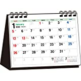 2020年 シンプル卓上カレンダー A6ヨコ/カラー【T4】 ([カレンダー])