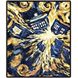 Doctor Who Throw Blanket - Exploding TARDIS Pandorica Fleece - 50 x 60 Afghan
