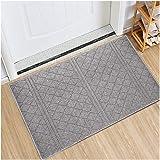 Indoor Doormat Absorbent Mats Latex Backing Non Slip Door Mat for Front Door Inside Floor Mud Dirt Trapper Mats Entrance Rug