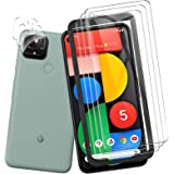 QITAYO for Google Pixel 5 Screen Protector and Camera Protector [3 Screen Protectors+2 Camera Protectors] Anti-fingerprint An