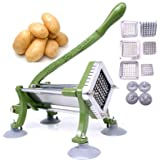 "French Fry Cutter Commercial Potato Slicer with Suction Feet Complete Set, Includes 1/4"", 3/8"",1/2"""