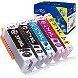 【LxTek】Canon用 キヤノンインクカートリッジ 371 canon インク 371 『互換インク/2年保証/大容量/説明書付/残量表示/個包装』 5色セット BCI-371XL+370XL 5MP 対応機種:Canon PIXUS TS503