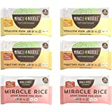 Miracle Noodle Pasta & Rice Variety Pack - Fettuccine & Angel Hair Plant Based Shirataki Noodles - Plant Based Miracle Rice -