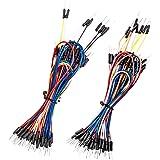 Smraza ジャンパーワイヤー ジャンパー線 130本 ブレッドボード・Arduino・DIY用 ジャンパーケーブル 鉛フリー ワイヤキット フレキシブル 130本セット オス-オス