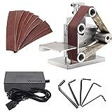 Huanyu ミニベルトサンダー 卓上型電気サンダー 7段変速 4500~9000RPM/MIN 家庭用・業務用・DIY…