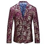 Cloudstyle Men's Dress Floral Suit Notched Lapel Slim Fit Stylish Blazer