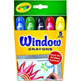 Crayola Window Crayons, 5 Classic Colours, Great for All Glass Surfaces, Perfect for School Projects or Home Activities!