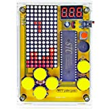 DIY Soldering Project Game Kit Retro Classic Electronic Soldering Kit with 5 Retro Classic Games and Acrylic Case, Idea for S