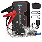FNNMEGE 2000A Peak 21800mAh 12V Super Safe Car Jump Starter with USB Quick Charge 3.0 (Up to 8.0L Gas or 6.5L Diesel Engine)