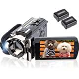 Video Camera Camcorder Digital YouTube Vlogging Camera Recorder kicteck Full HD 1080P 15fps 24MP 3.0 Inch 270 Degree Rotation