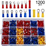 1200PCS Assorted Insulated Electrical Wire Terminal Crimp Port Connector Kit