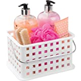 InterDesign Storage Organizer Basket, for Bathroom, Health and Beauty Products - Small, White