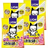 ライオン (LION) ニオイをとる砂 猫砂 フローラルソープの香り 5L×4袋 (ケース販売)