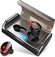 【安装有最先进的Bluetooth5.0等级】Bluetooth 耳机 IPX7完全防水 95小时连续驱动 Hi-Fi高音质 3D立体声音响 CVC8.0噪声消除&AAC8.0对应 自动配对 带麦克风 完全无线耳机 双耳左右分离式 触摸式 内置麦克风 蓝牙 耳机日语音提示 已获得适宜的认证 iPhone&Android对应