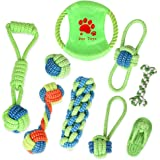 9pcs Dog Chew Toys Interactive for Small Medium Breed Boredom Teeth Cotton Rope