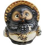 信楽焼 【5号お願い狸 ta-0186】 信楽焼き 陶器 しがらきやき たぬき タヌキ 置物 置き物 おきもの 縁起物 進物 ギフト