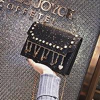 RBBB insの上に新しい小さいバッグの女性の新金の潮の韓版は百組の斜めのショルダーバッグのチックのチェーンの小さい方の包み,黒