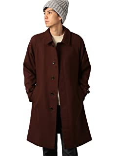 Bulky Twill Bal Collar Coat 3225-199-2547: Brown