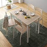 ダイニング セット 5点 テーブル 110cm チェア 4脚 ナチュラル ホワイト モダン シンプル 北欧 木製 スチール デザイン 4人掛け