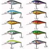 Fishing Lures Crankbait Set - Artificial Topwater Lures Assortment Hard Baits Plugs Minnow Popper VIB Pencil Jerkbait for Bas