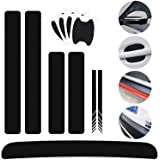 8 pcs Universal 3D Carbon Fiber Car Decoration Stickers,Rear View Mirror Stickers DIY Door Handle Paint Scratch Protector Sti