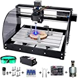 MYSWEETY DIY CNC 3018PRO-M 3 Axis CNC Router Kit with 5500mW 5.5W Module + PCB Milling, Wood Carving Engraving Machine with O