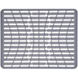 OXO Good Grips All-Silicone Sink Mat, Silicone, Silver, Large Rectangle