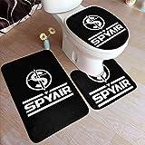 スパイエアー SPYAIR ロゴ ポリエステルノンスリップ3ピースバスルームカーペットラグ、バスルームラグ/コンターマット/トイレカバー
