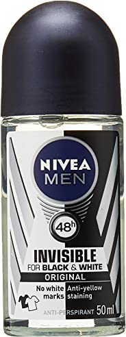 Nivea Men Deodorant Power, Invisible Black and White, 50ml