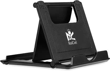 RoiCiel スマホ&タブレット用 折りたたみ式&角度調整可能軽量スタンド