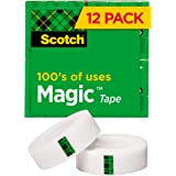 Scotch Magic Tape, Matte Finish, The Original, 3/4 x 1000 Inches, Boxed, 12 Rolls (810K12)