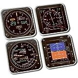 Modern Flight Instruments - Coaster Set