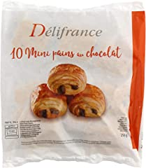 Delifrance Mini Chocolate Croissant Frozen, 25g (Pack of 10) - Frozen