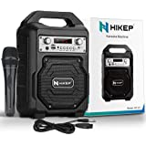 HIKEP Portable Bluetooth Karaoke Machine, Wireless PA Speaker System Voice Amplifier with Handheld Microphone Perfect for Kid