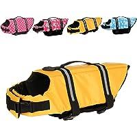 Metgladペット 犬用ライフジャケット 調節可能 水泳救命胴衣 小型犬 中型犬 大型犬 猫用 水遊び用 運動用 救急…