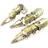【ぴぴっと】 アクセサリー フィンガー アーマーリング 騎士 甲冑 関節 指輪 コスプレ 仮装 フィンガーリング 3個セット (ブロンズ)