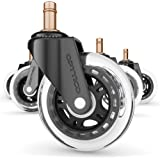 Replacement Casters Set for IKEA Office Chairs Our 3 inch Chair Wheels for Hardwood Floors Protect Them Better Than Any Offic