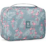Hanging Travel Toiletry Bag Cosmetic Make up Organizer for Women and Girls Waterproof (A-Flamingo Large-1)