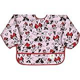 Bumkins Disney Minnie Mouse Sleeved Bib / Baby Bib / Toddler Bib / Smock, Waterproof, Washable, Stain and Odor Resistant , 6-