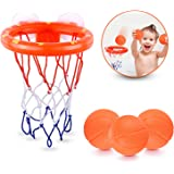 Fun Basketball Hoop & Balls Playset For Little Boys & Girls Bathtub Shooting Game For Kids & Toddlers Suctions Cups That Stic